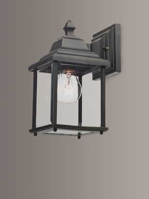 Dar Doyle Indoor/Outdoor Wall Light, Black/Gold