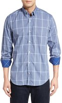 Tailorbyrd Men's 'Ural Mountains' Regular Fit Windowpane Sport Shirt