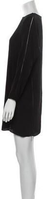 alexanderwang.t Crew Neck Mini Dress Black