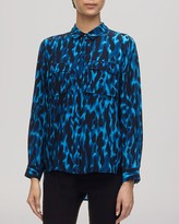 Whistles Blouse - Tyler Animal Print Silk