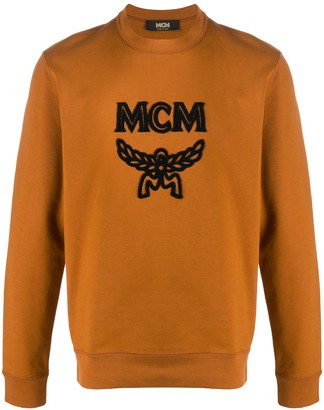 MCM Logo Flocked Sweatshirt