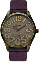 Geneva Platinum Purple & Bronze Watch