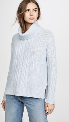 TSE Cowl Neck Cashmere Poncho Sweater