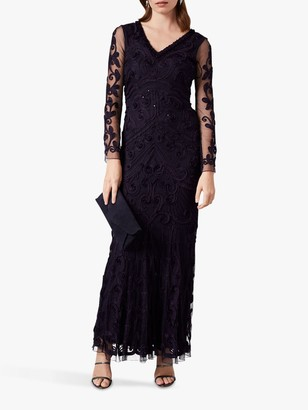 Phase Eight Seymour Tapework Maxi Dress, Nightshade Violet