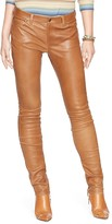 Lauren Ralph Lauren Leather Modern Skinny Jeans