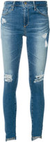 AG Jeans ripped step hem jeans
