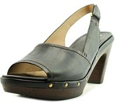 Naturalizer Honey Women N/s Open Toe Leather Black Platform Sandal.