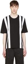 Giuliano Fujiwara Black & White Striped T-Shirt