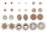 Charlotte Russe Embellished Floral Stud Earrings - 12 Pack