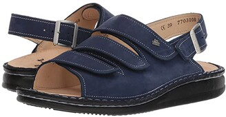 Finn Comfort Soft Sylt (Metallic Blue) Women's Sandals