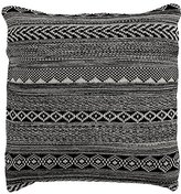 Ethan Allen Black and White Graphic Knit Pillow
