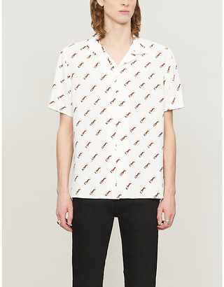 The Kooples Tiger-print woven shirt