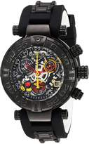 Invicta Women's 'Disney Limited Edition' Swiss Quartz Stainless Steel and Silicone Automatic Watch, Color:Black (Model: 22738)