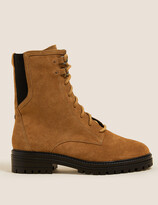 Thumbnail for your product : Marks and Spencer Wide Fit Suede Lace Up Ankle Boots