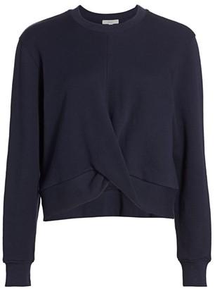 Joie Olenna Draped-Front Sweatshirt