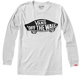 Vans Plain Long-Sleeved Crew Neck T-Shirt