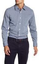 Jack Spade Checkered Print Long Sleeve Trim Fit Shirt