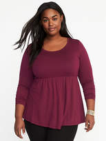 Old Navy Jersey-Knit Plus-Size Peplum-Hem Top