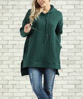 Green Hi-Low Pullover Hoodie - Plus Too