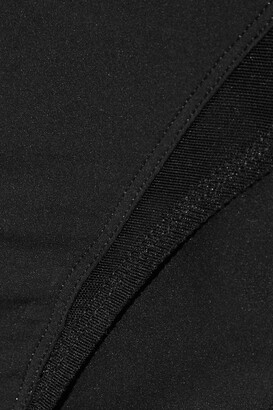 Eres Lumiere Derobee Tulle-paneled Stretch-jersey Briefs - Black