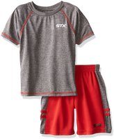 STX Big Boys' 2 Piece Performance Athletic T-Shirt and Short Set
