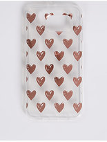 M&S Collection Samsung S6® Heart Print Phone Case
