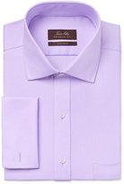 Tasso Elba Men's Classic-Fit Lavender Twill French-Cuff Dress Shirt