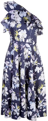 Jason Wu Collection Floral Print One Sleeve Dress