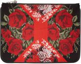Alexander McQueen Multicolor Floral Zip Pouch