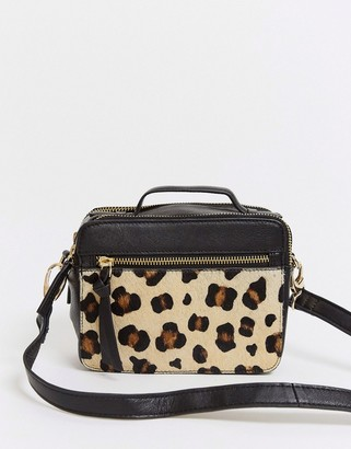 Urban Code Urbancode leather cross body bag in leopard