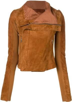 Rick Owens chain shoulder detail biker jacket