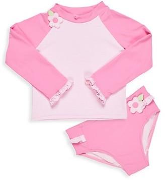 Florence Eiseman Baby's & Little Girl's 2-PIece Mini Stripe Rashguard Set