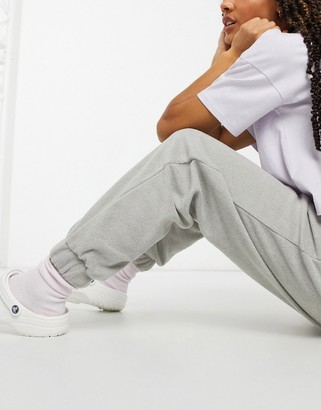 Monki Fanny recycled joggers in grey