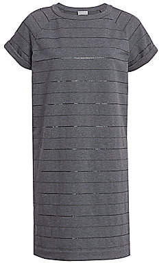Brunello Cucinelli Men's Monili Striped Jersey T-Shirt Dress