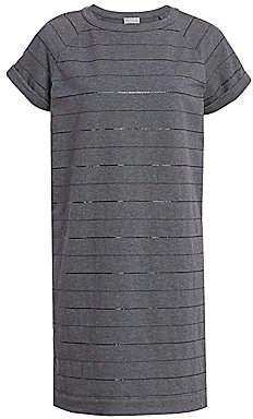 Brunello Cucinelli Women's Monili Striped Jersey T-Shirt Dress