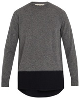 Marni Contrast Hem-panel Wool Sweater