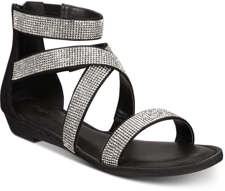 66d688a593cc4 Rhinestone Flat Sandals - ShopStyle