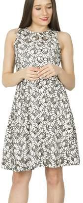 M&Co Izabel mosaic print fit and flare dress