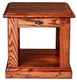 """Millwood Pines Torin 20"""" End Table Color: Spice Alder"""