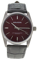 Zadig & Voltaire ZVF235 Fusion - Silver/Grey Leather Strap Watch 1 Pc Watches