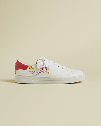 Ted Baker NELAH Leather floral trainers
