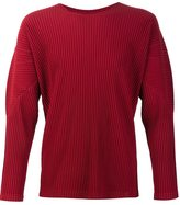 Homme Plissé Issey Miyake - pleated crew neck sweatshirt - men - Recycled Polyester - 2