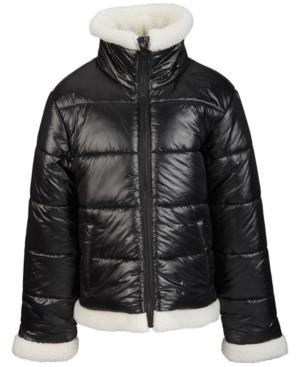 S. Rothschild Big Girls Faux-Sherpa Trimmed Jacket