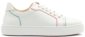 Christian Louboutin Vierissima Painted-edge Leather Trainers - White Multi