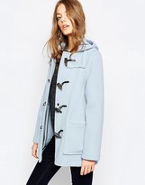 Gloverall Short Duffle Coat in Sky Blue
