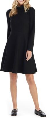 Gal Meets Glam Harlow Long Sleeve Rib Knit Dress