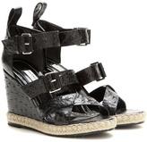 Balenciaga Rope Track leather wedge sandals