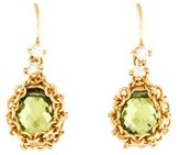 Anthony Nak 18K Peridot & Diamond Drop Earrings