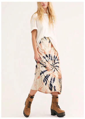 Free People Tie-Dye Maxi Skirt