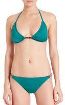 Milly Italian Solid Positano Bikini Top